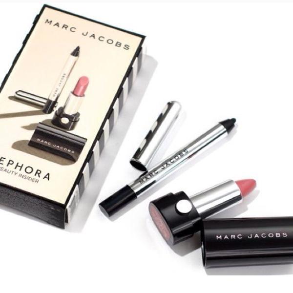 Highliner Gel Eye Crayon and Le Marc lipstick