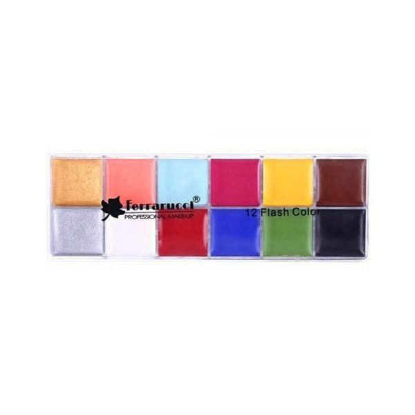 12 Flash Color Face Palette